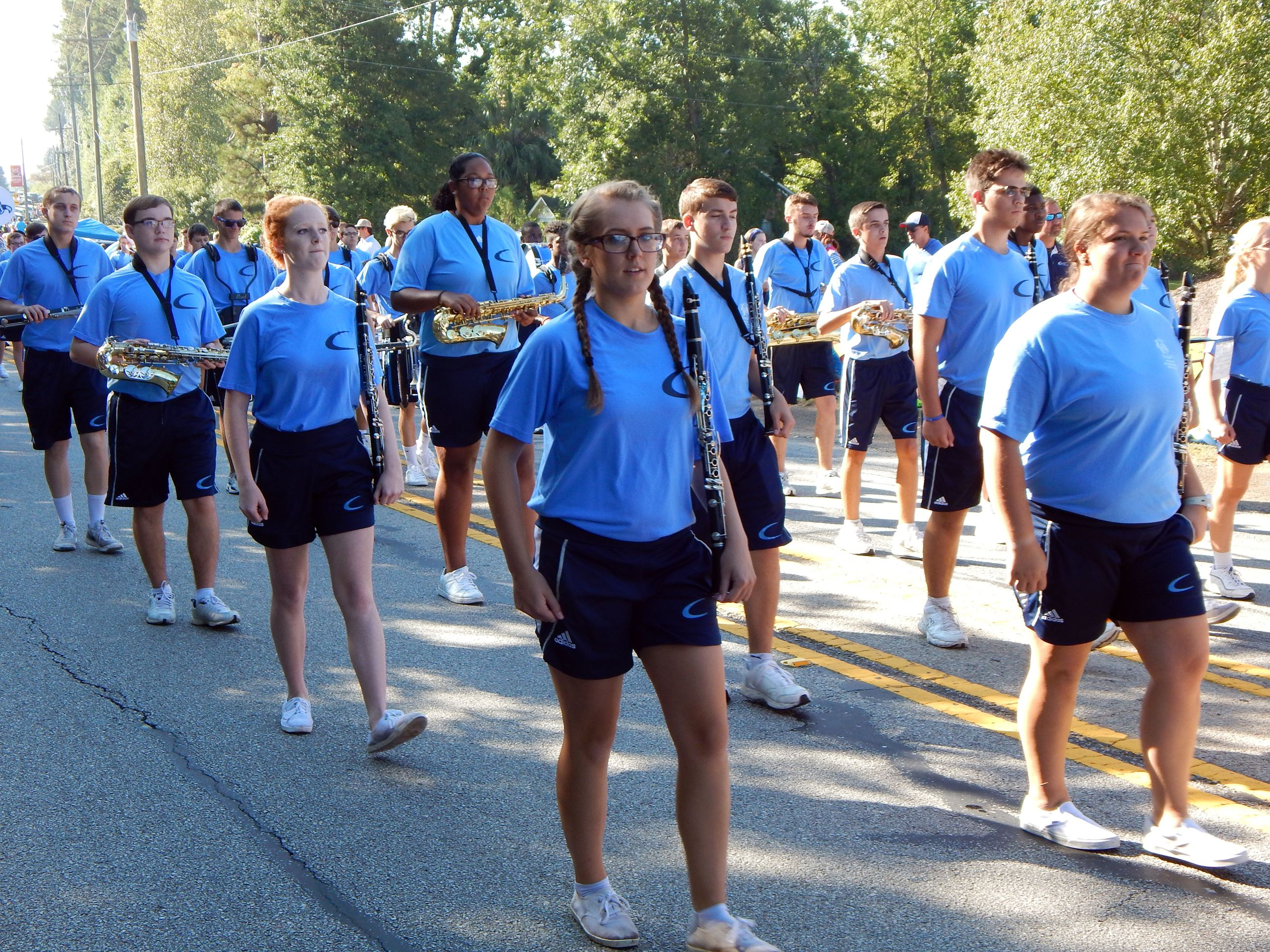 CHS Marching Band walking