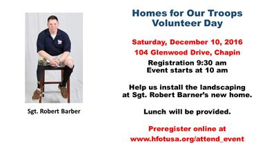 Robert Barber Volunteer Day